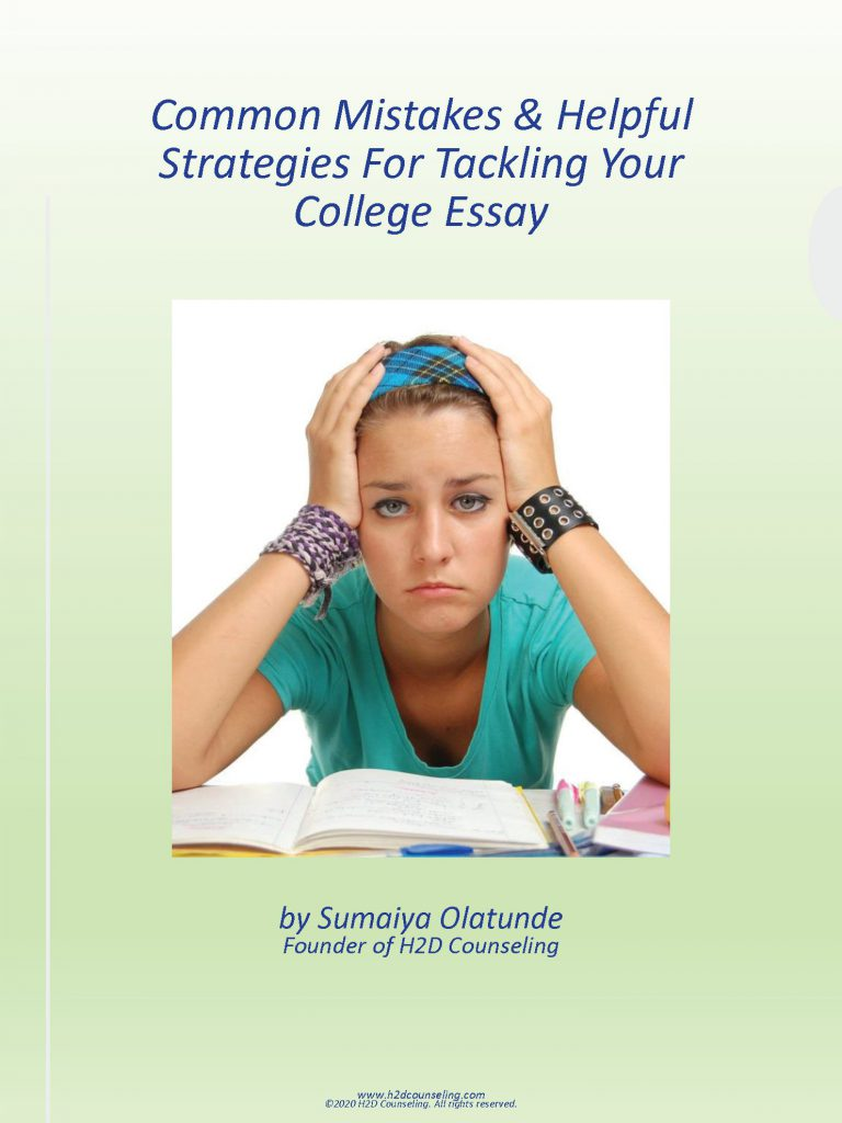 Common Mistakes & Helpful Strategies For Tackling Your College Essay Ebook Cover